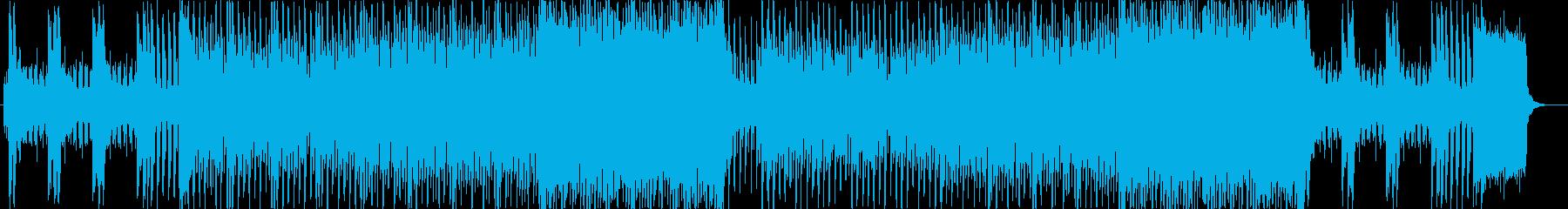 ピアノイントロ、キラキラしたJPOP風aの再生済みの波形