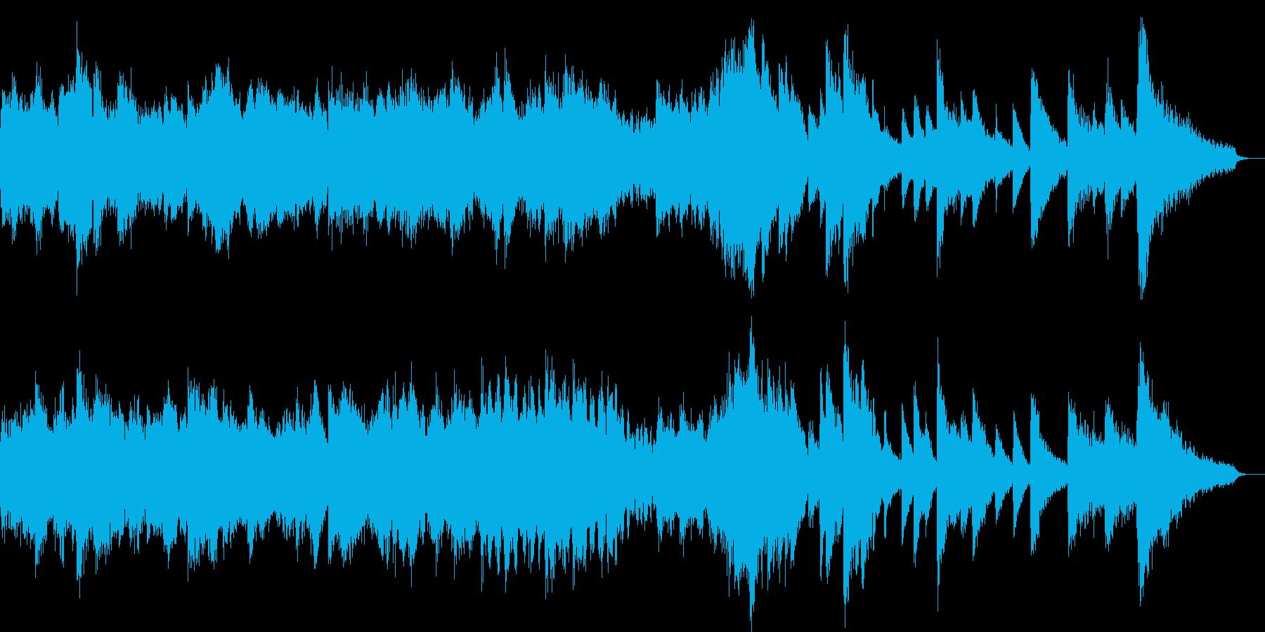 優しい雰囲気のポップス(30sec)の再生済みの波形