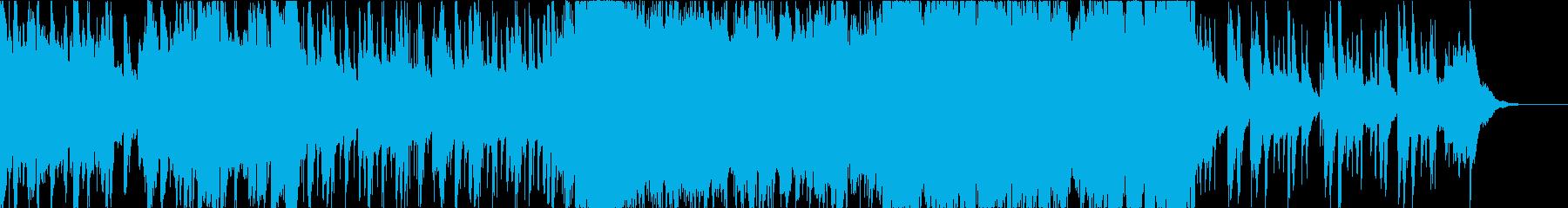 緊張感のある重めのインストの再生済みの波形