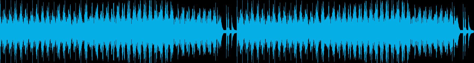 あやしく緊張感・緊迫感のあるBGMの再生済みの波形