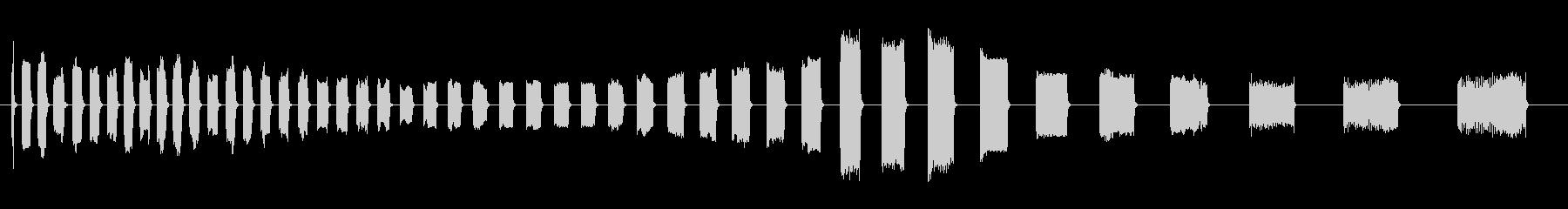 警報車タイプ1。速いビープ音とチャ...の未再生の波形