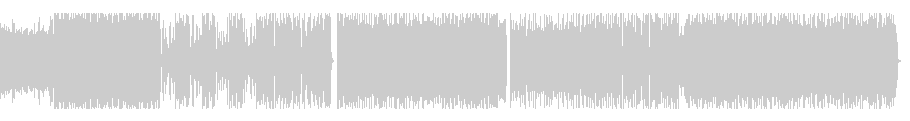 ゴリゴリエレキギターのインスト曲の未再生の波形