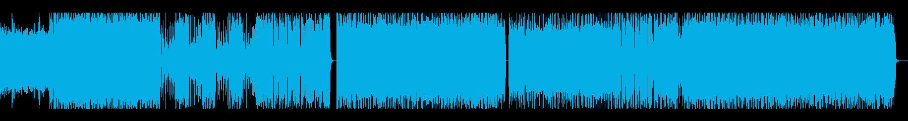 ゴリゴリエレキギターのインスト曲の再生済みの波形