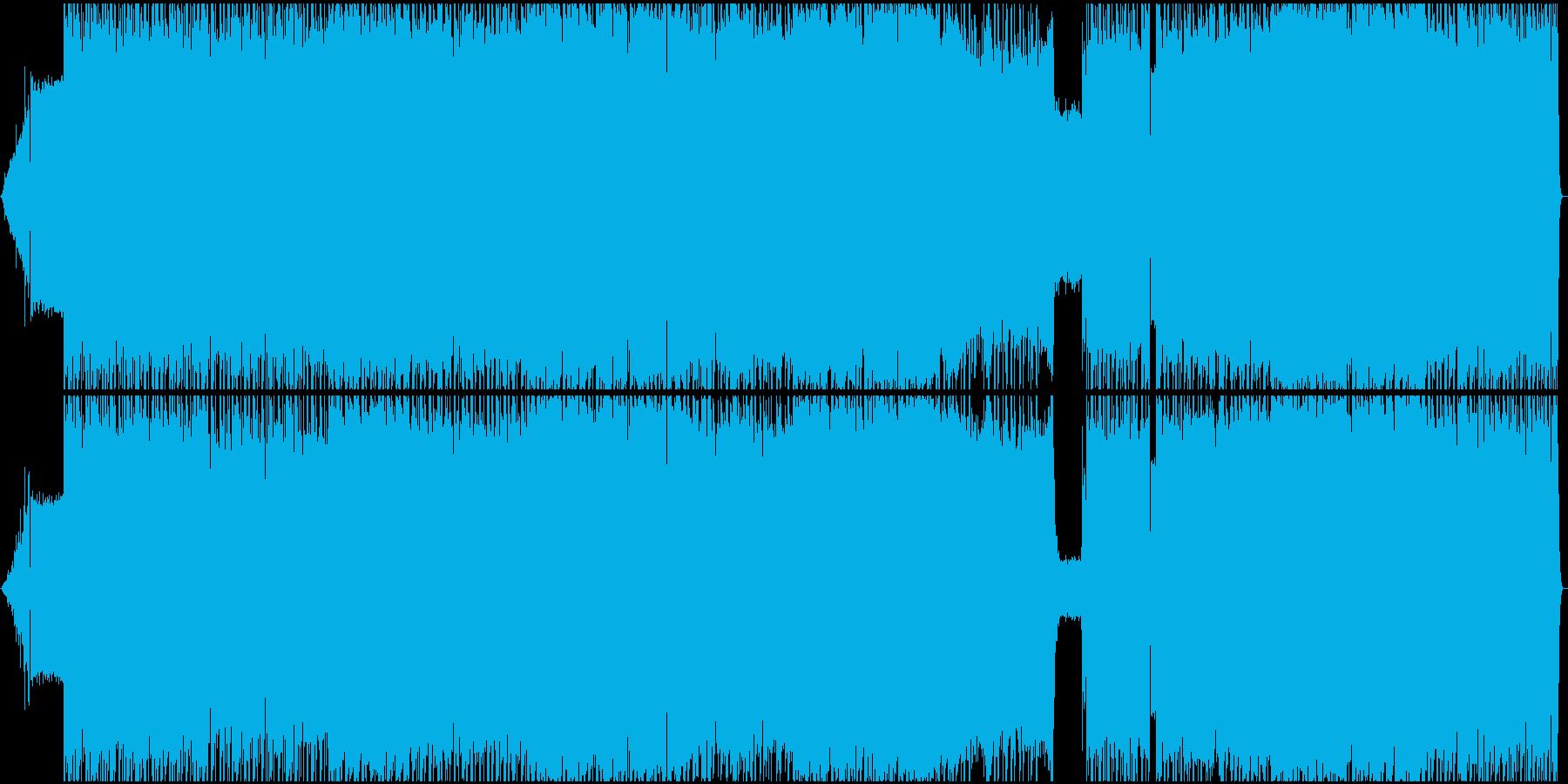 生演奏。女声ボーカルの疾走系ロックの再生済みの波形