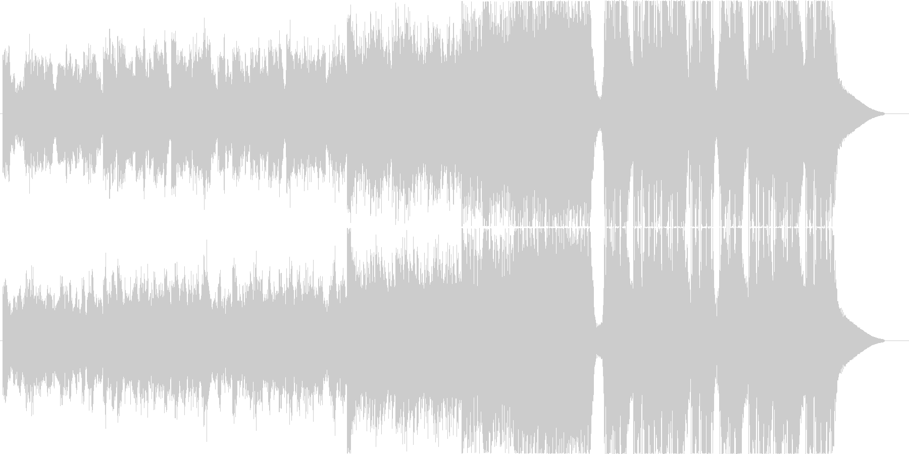 Future Bass アンビエントの未再生の波形