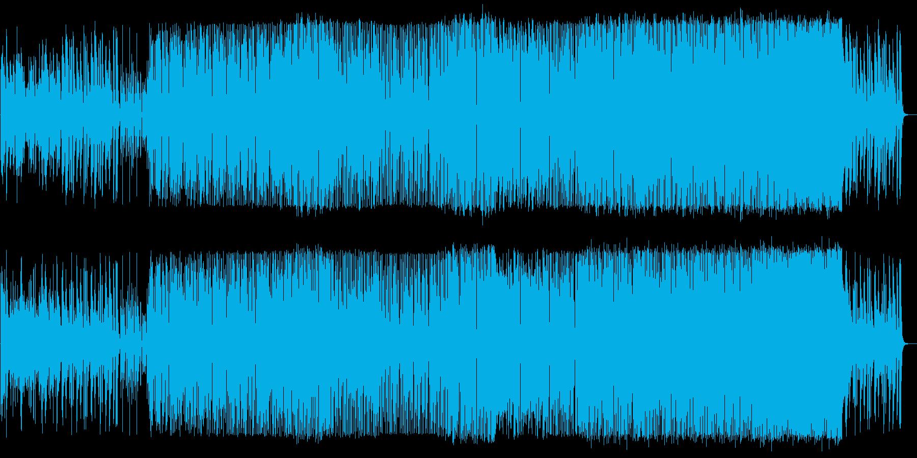 ファンキービートに乗せたアコギメイン楽曲の再生済みの波形