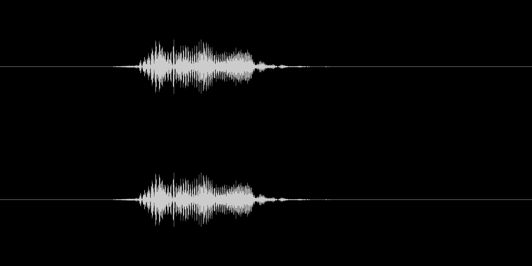 「ほい」掛け声 元気 アクション の未再生の波形