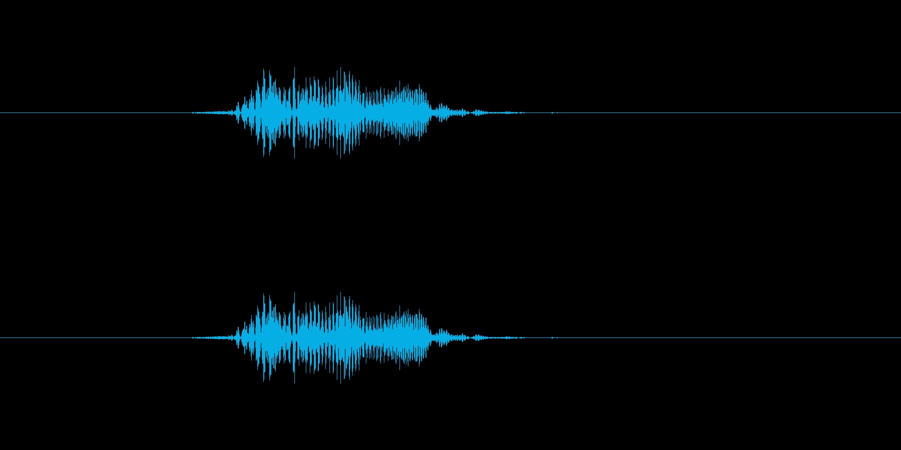 「ほい」掛け声 元気 アクション の再生済みの波形