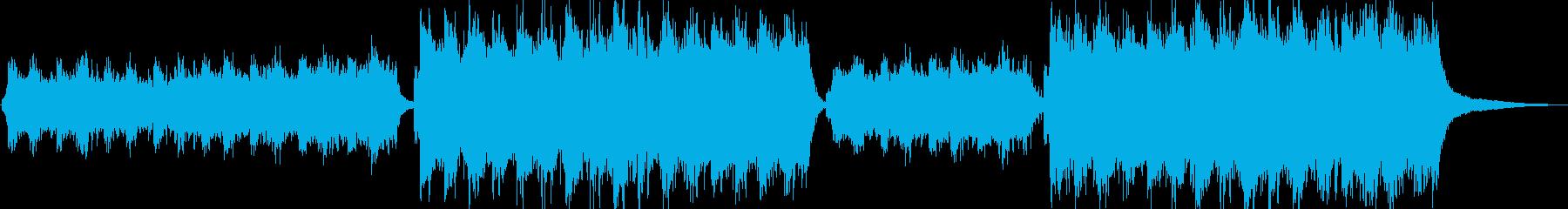 力強く知的なイメージのBGMの再生済みの波形