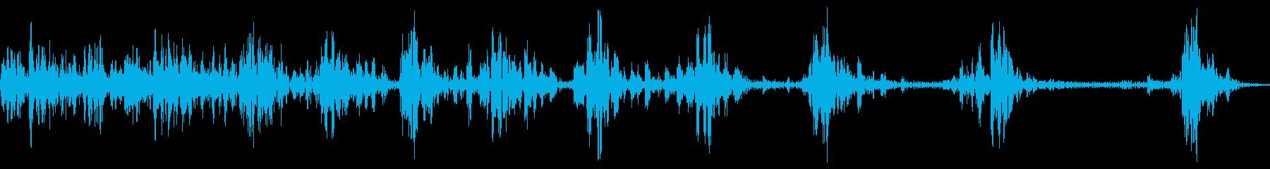カータイヤフロップイン、ストップの再生済みの波形