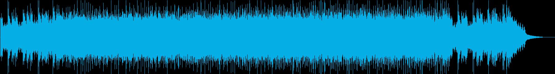 リフで始まるEL&P風なクールロックの再生済みの波形