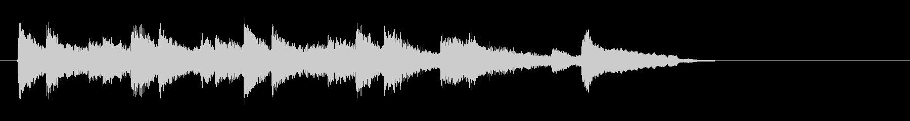 落着いたピアノ風バラード(イントロ)の未再生の波形