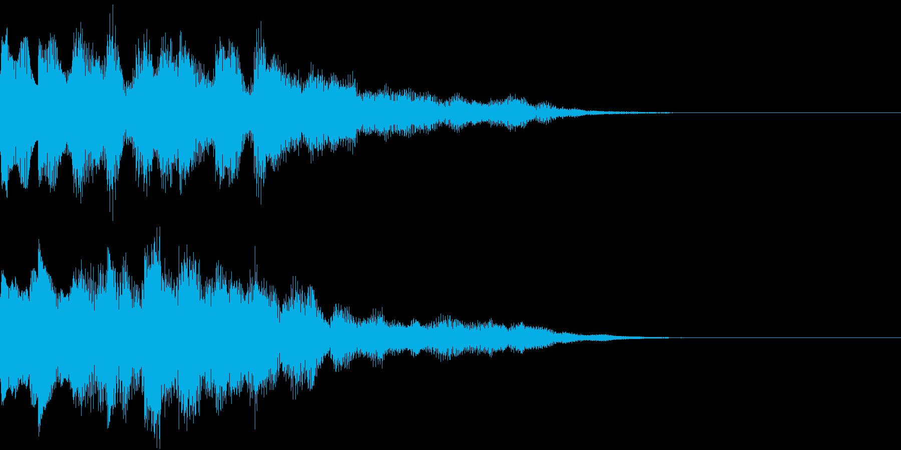 ジングルの再生済みの波形