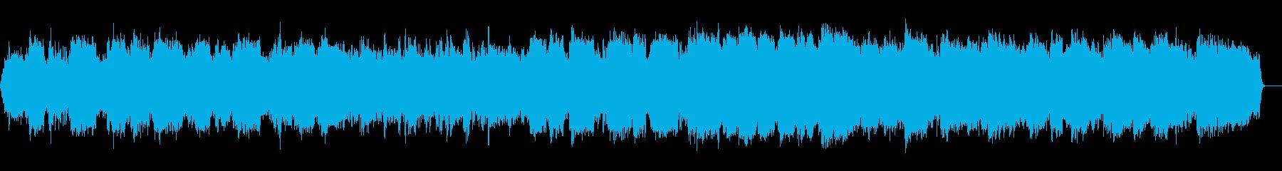 春のそよ風のイメージのヒーリング音楽の再生済みの波形