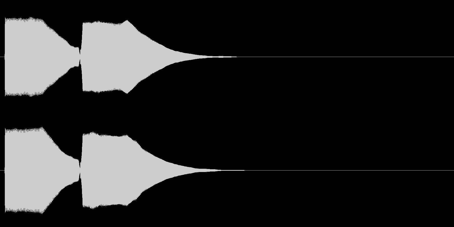 ピンポン×1◆玄関チャイム、インターホンの未再生の波形