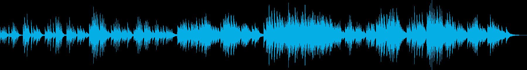 和風の切ないピアノバラードの再生済みの波形