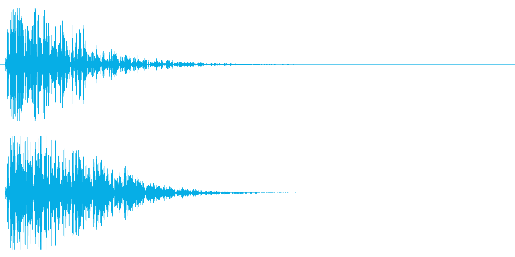 ドン!(迫力ある和太鼓の効果音)03の再生済みの波形