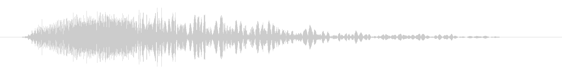 ビッグマジックザッププーフの未再生の波形