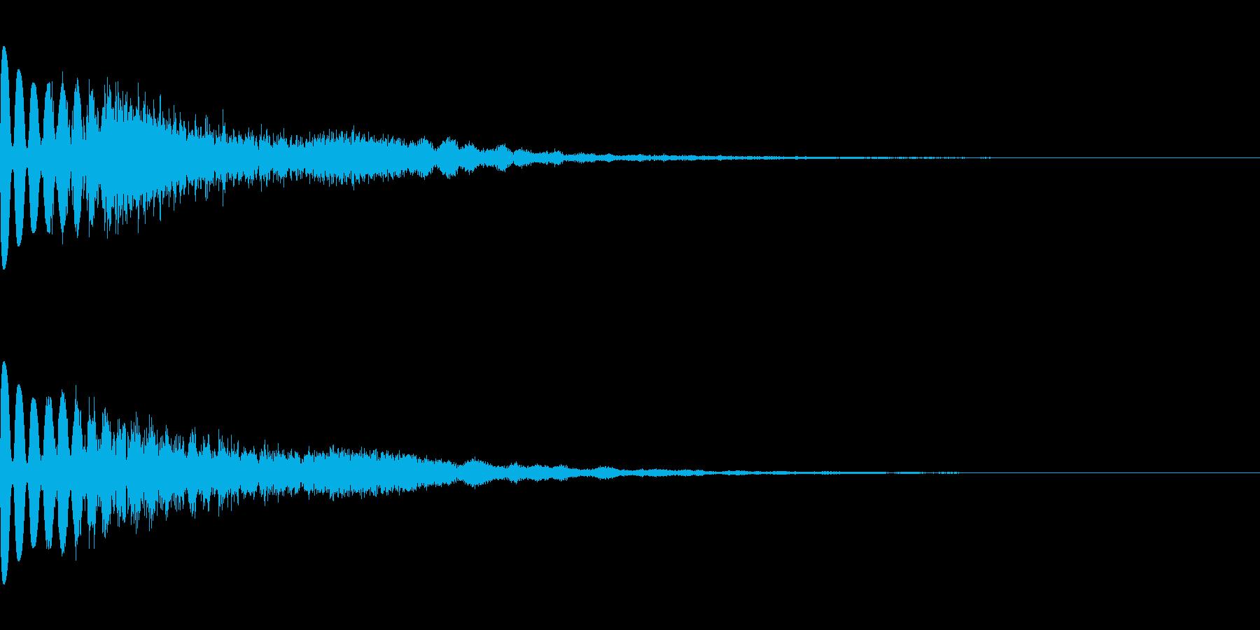 ホラーだけど神秘的な効果音(怖い/綺麗)の再生済みの波形