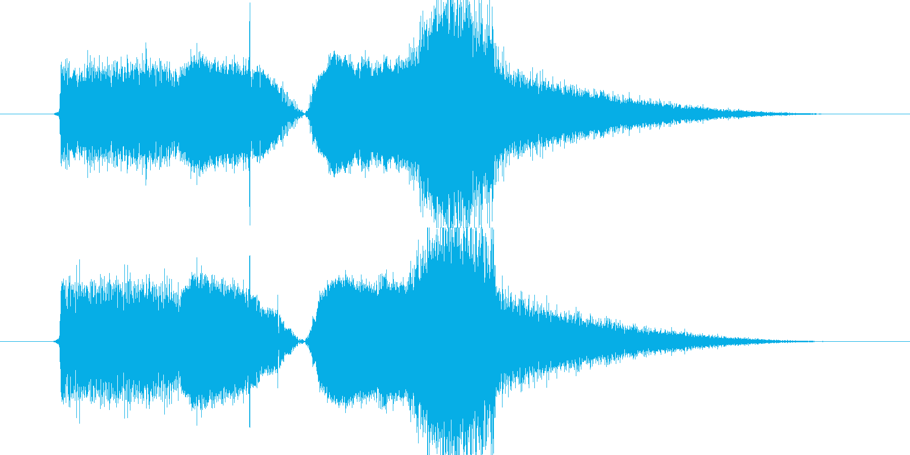 FMジングル風 サウンドの再生済みの波形