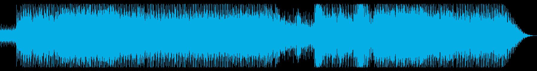 80年代洋楽ポップロック風の再生済みの波形
