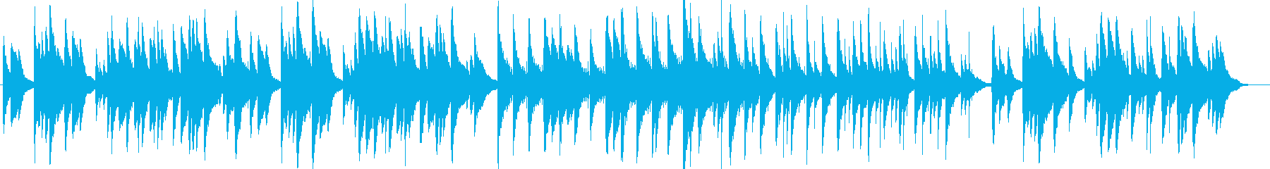 CM Vlogなどせつないピアノ系BGMの再生済みの波形