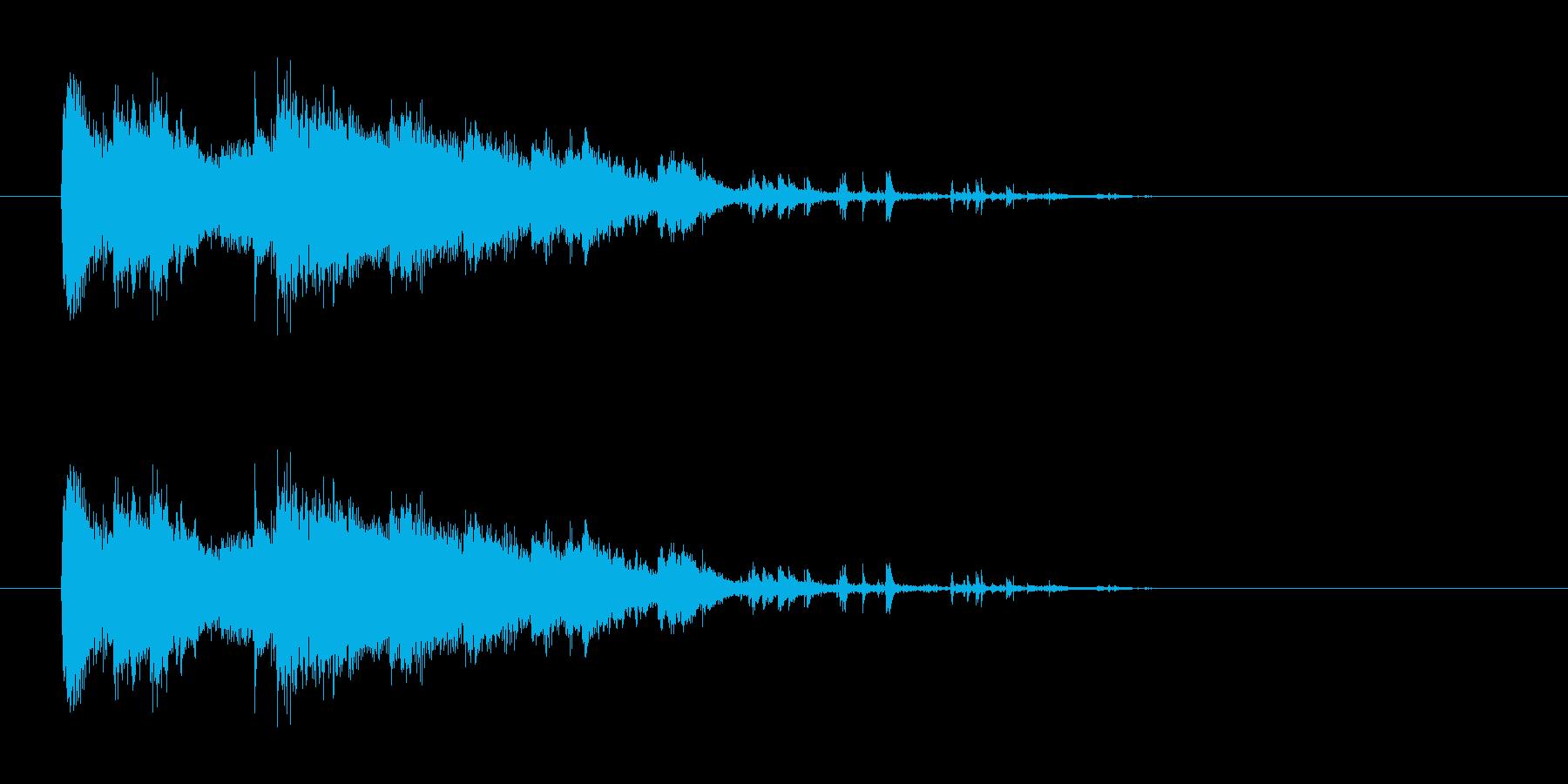 ガシャーン(氷、ガラス等が砕ける音)の再生済みの波形