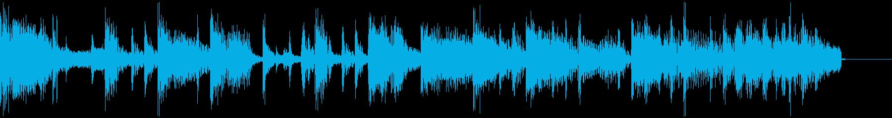 エレピを使ったジングルショートバージョンの再生済みの波形