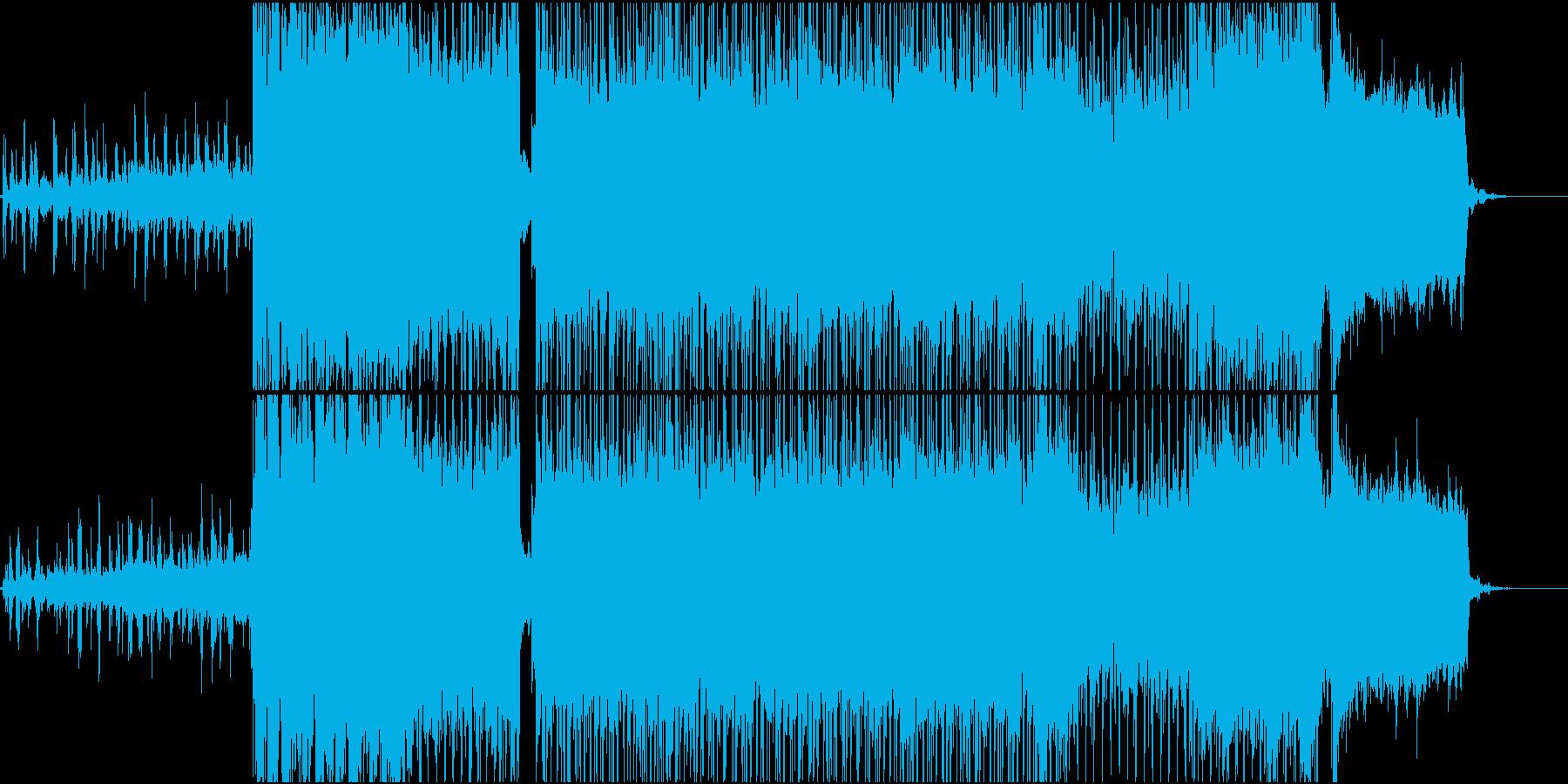 戦闘が始まるような エレキギターロックの再生済みの波形