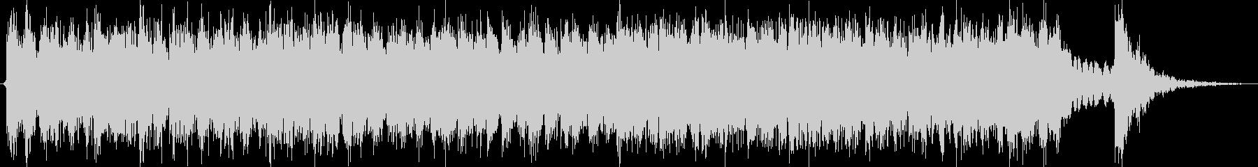 太鼓が激しい約三十秒の和風曲の未再生の波形