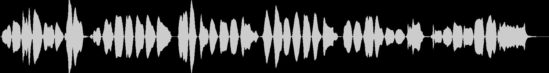 バイオリン初心者が弾くきらきら星の未再生の波形