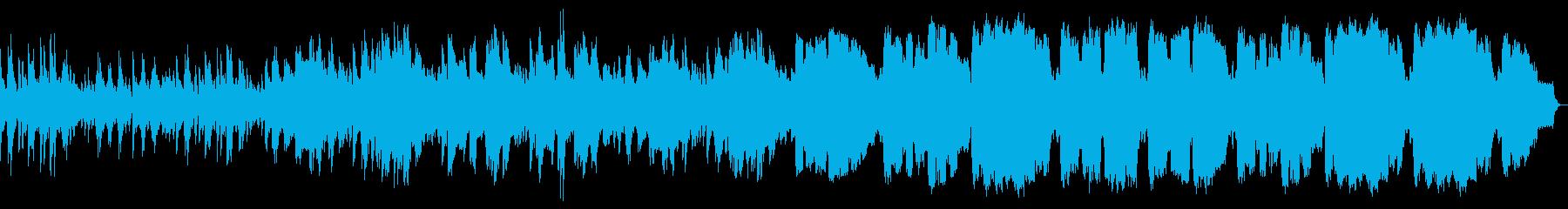 ピアノとSAXがメインの優しいワルツの再生済みの波形
