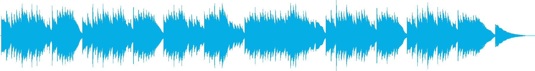 記念日や誕生日 安らぐオルゴール曲の再生済みの波形