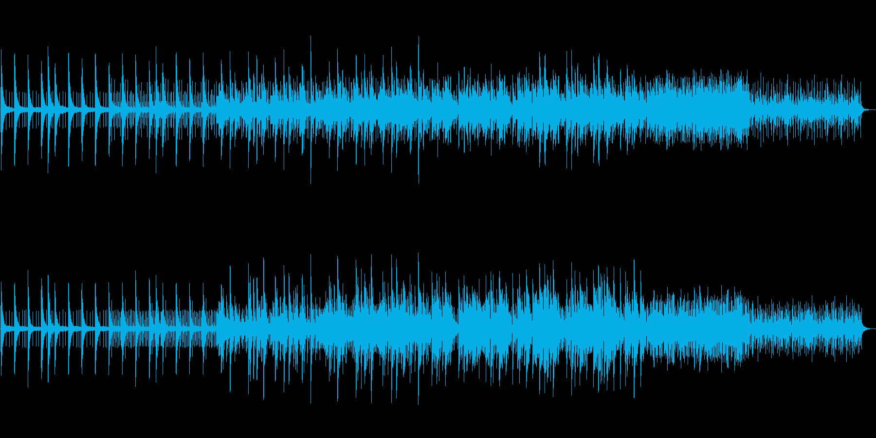 ピアノがメインの雨をイメージしたBGMの再生済みの波形