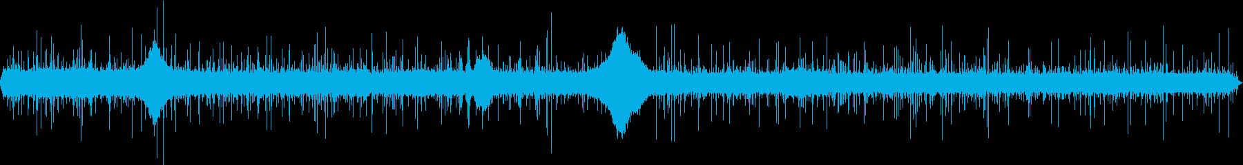 【生録音】日本 東京に降る雨の音 2の再生済みの波形