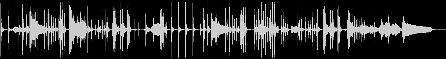 ギャグシーンに最適な少し間の抜けたBGMの未再生の波形