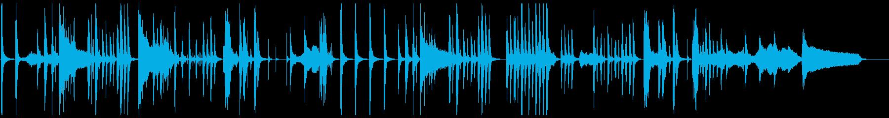 ギャグシーンに最適な少し間の抜けたBGMの再生済みの波形