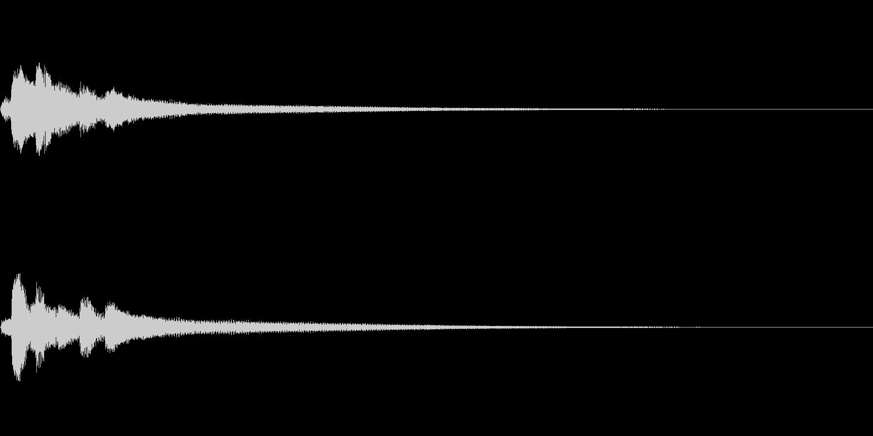 風のイメージジングル/ピアノソロの未再生の波形