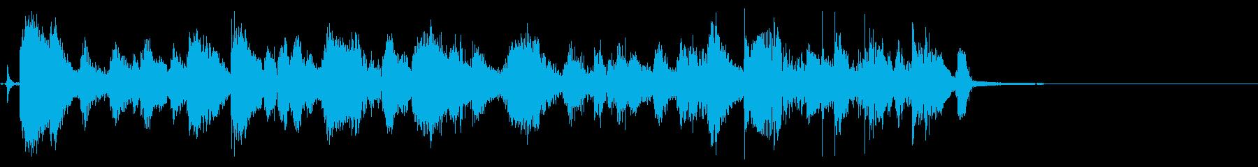 多忙なユーモアの10秒のバースト。...の再生済みの波形