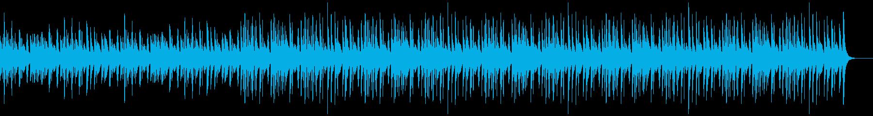 可愛くほのぼのとした曲の再生済みの波形