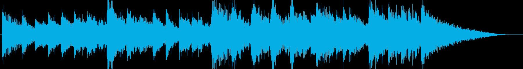 和風春CMテレビ企業VP出囃子入場ピアノの再生済みの波形