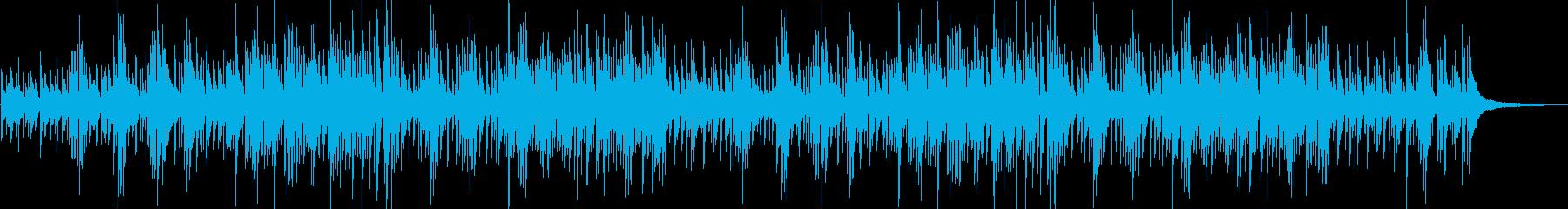 動画・料理 陽気でのほほんピアノポップスの再生済みの波形