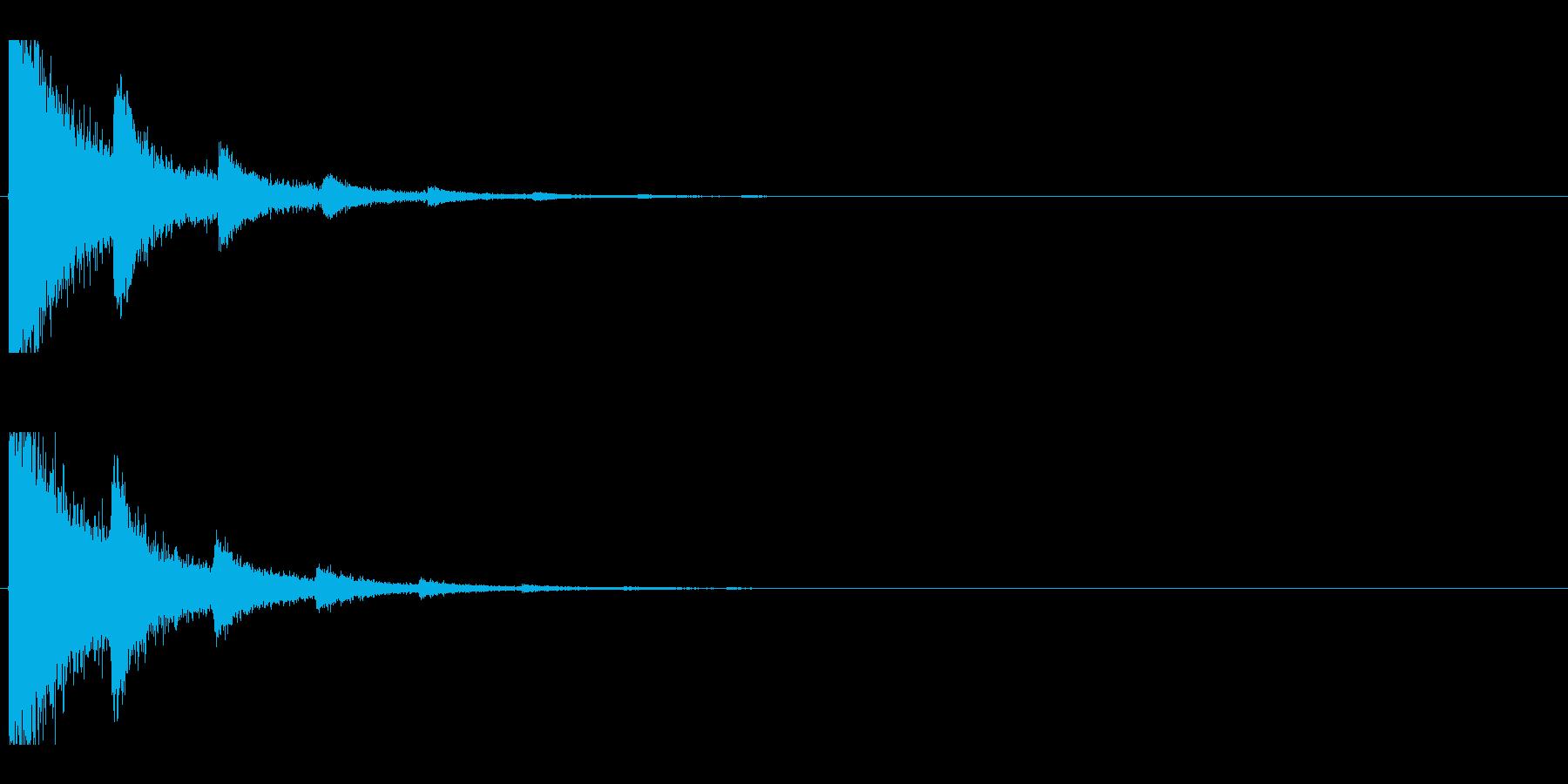 レーザー音-07-2の再生済みの波形