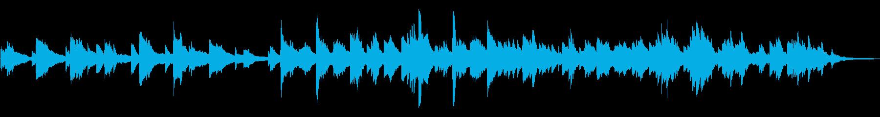 ゆったりと眠れそうなピアノソロの再生済みの波形