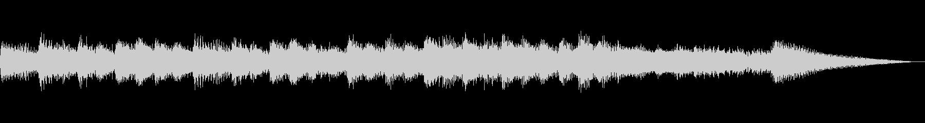 切ないピアノのメロディーのサウンドロゴの未再生の波形