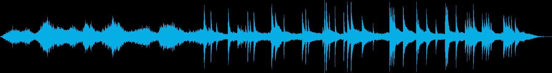 ホラー風シンセSEと悲しげなピアノの劇判の再生済みの波形