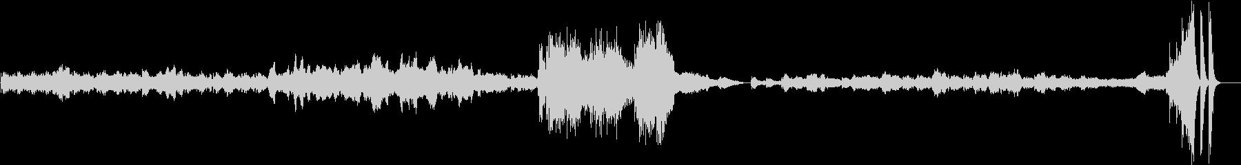 悲哀のメロディーによる情熱のピアノトリオの未再生の波形