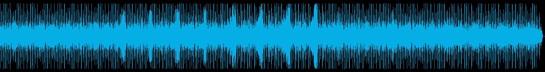 アップテンポなテクノの再生済みの波形
