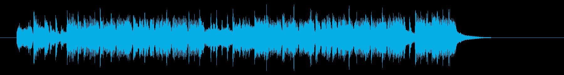 ヘビーでグルーブ感あるエレキジングルの再生済みの波形