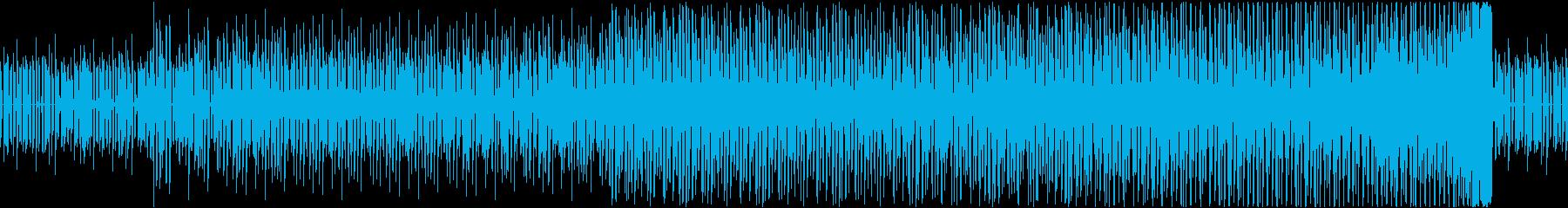 ミステリーの推理中のようなハウスBGMの再生済みの波形